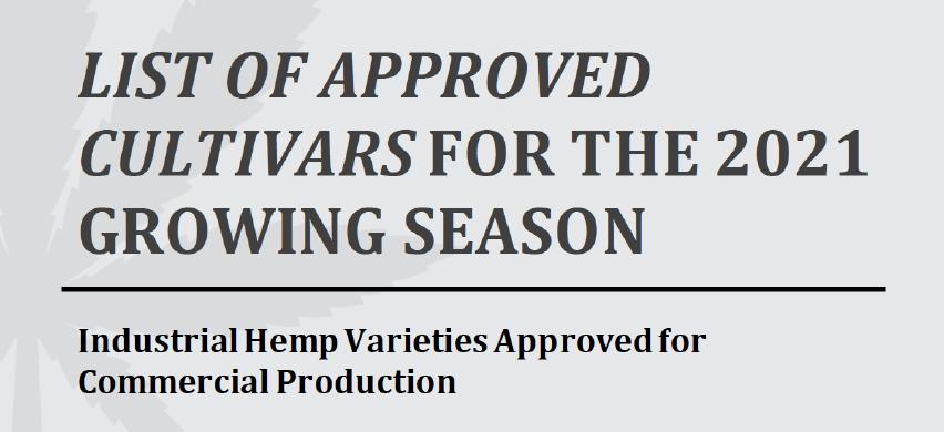 Tritium 3H 2021 Approved Cultivars
